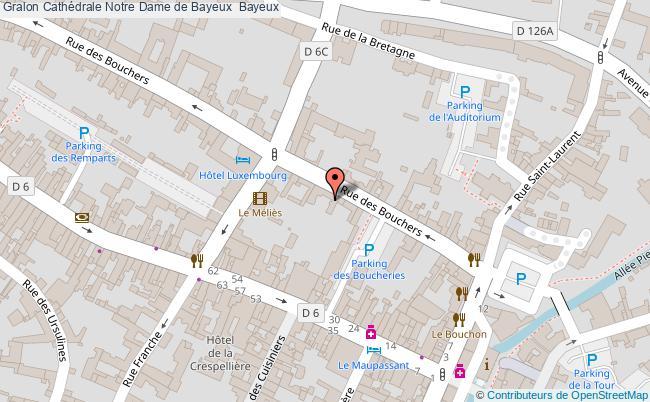 plan Cathédrale Notre Dame De Bayeux  Bayeux