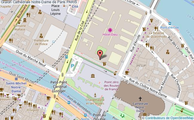 plan association Cathédrale Notre-dame De Paris Paris PARIS