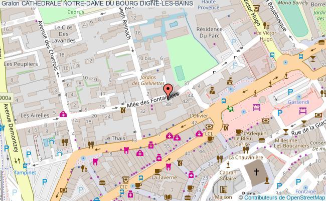 plan Cathedrale Notre-dame Du Bourg Digne-les-bains