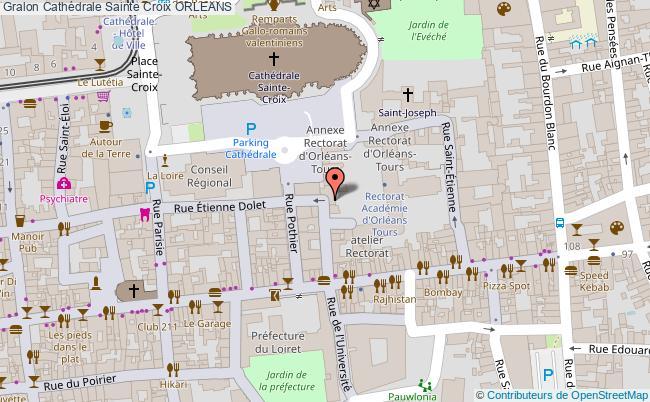 plan Cathédrale Sainte Croix Orleans
