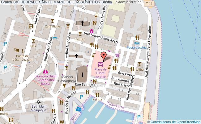plan Cathedrale Sainte Marie De L'assomption Bastia