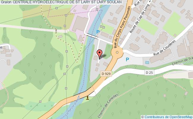 plan association Centrale Hydroelectrique De St Lary St Lary Soulan ST LARY SOULAN