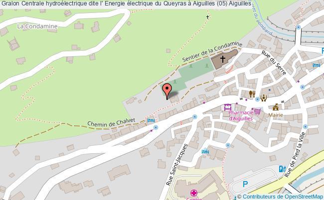 plan Centrale Hydroélectrique Dite L' Energie électrique Du Queyras à Aiguilles (05) Aiguilles