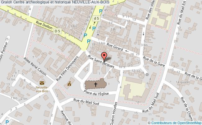 plan Centre Archéologique Et Historique Neuville-aux-bois