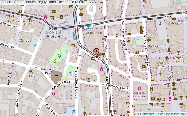 plan Centre Charles Peguy Hôtel Euverte Hatte Orleans