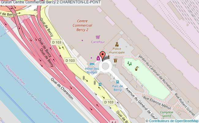 plan Centre Commercial Bercy 2 Charenton-le-pont