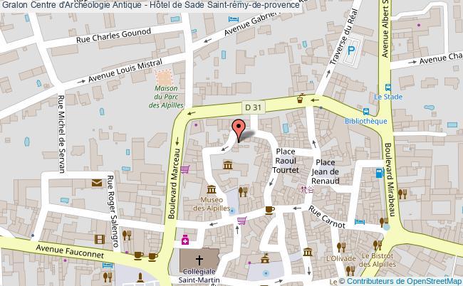 plan association Centre D'archéologie Antique - Hôtel De Sade Saint-rémy-de-provence Saint-rémy-de-provence