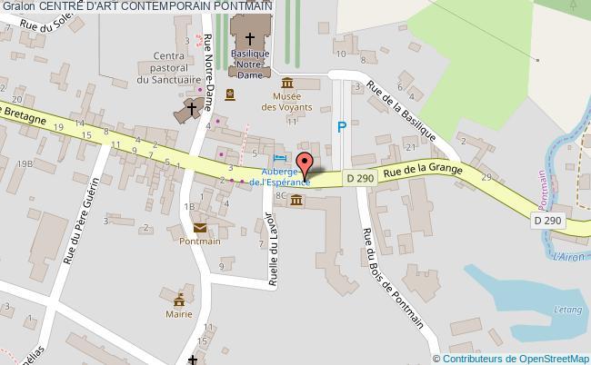 plan association Centre D'art Contemporain Pontmain PONTMAIN