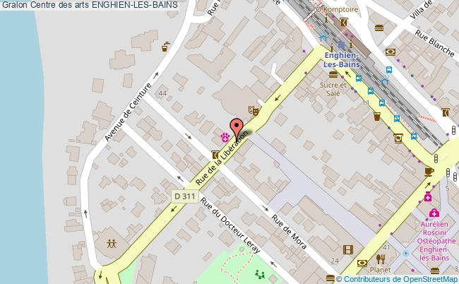 plan Centre Des Arts Enghien-les-bains
