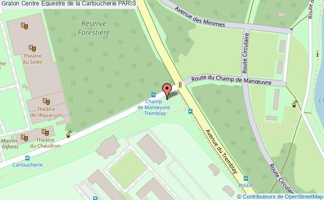 plan Centre Equestre De La Cartoucherie Paris