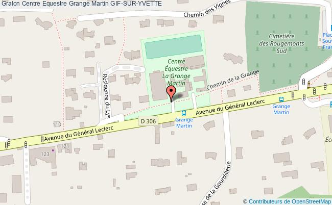 plan Centre Equestre Grange Martin Gif-sur-yvette