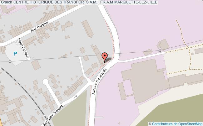 plan association Centre Historique Des Transports A.m.i.t.r.a.m Marquette-lez-lille MARQUETTE-LEZ-LILLE