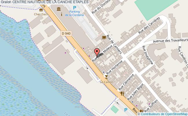 plan Centre Nautique De La Canche Etaples