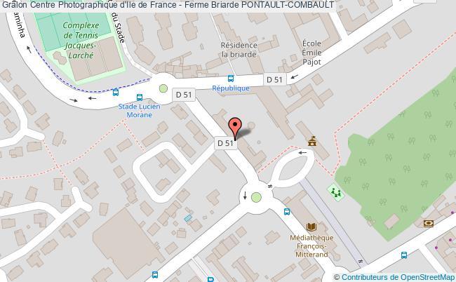 plan association Centre Photographique D'ile De France - Ferme Briarde Pontault-combault PONTAULT-COMBAULT