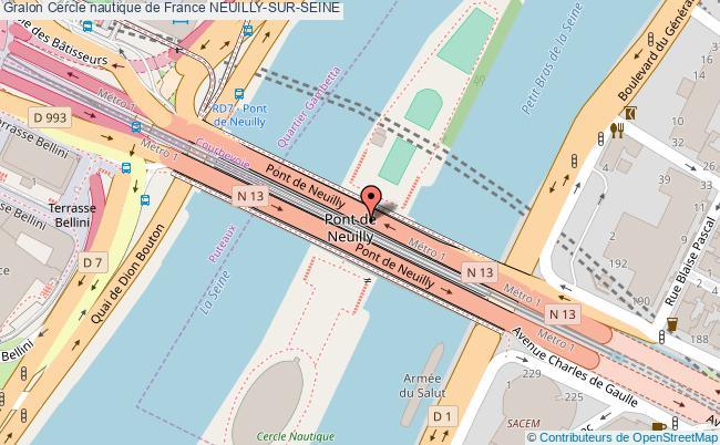 plan Cercle Nautique De France Neuilly-sur-seine