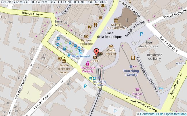 plan association Chambre De Commerce Et D'industrie Tourcoing TOURCOING