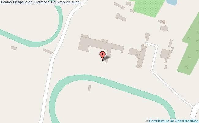 plan Chapelle De Clermont  Beuvron-en-auge