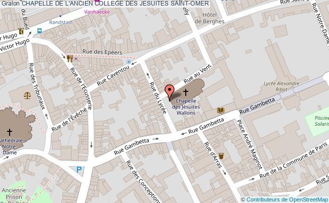 plan Chapelle De L'ancien College Des Jesuites Saint-omer