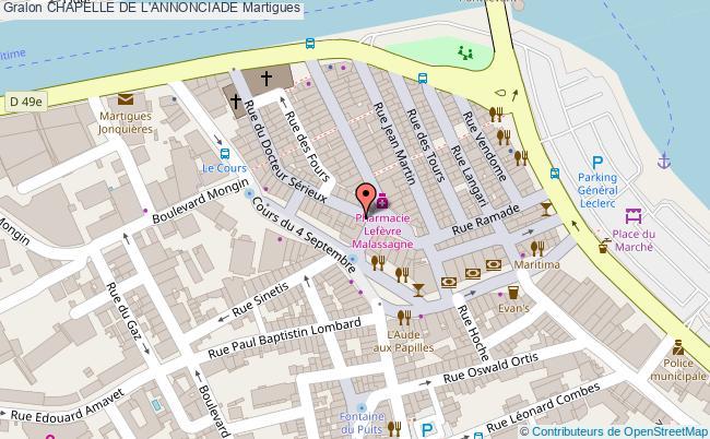 plan Chapelle De L'annonciade Martigues