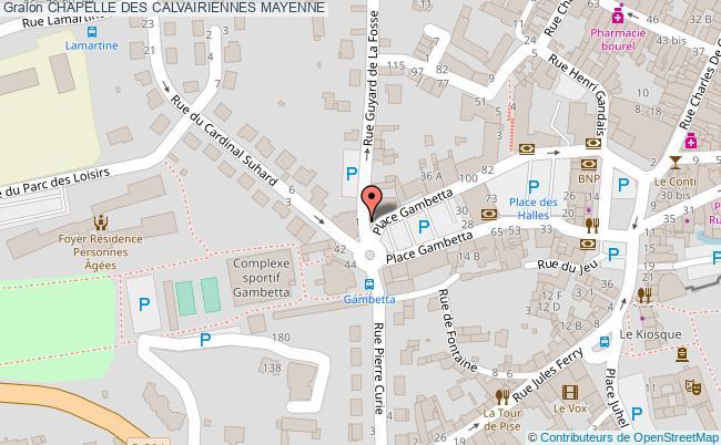 plan Chapelle Des Calvairiennes Mayenne