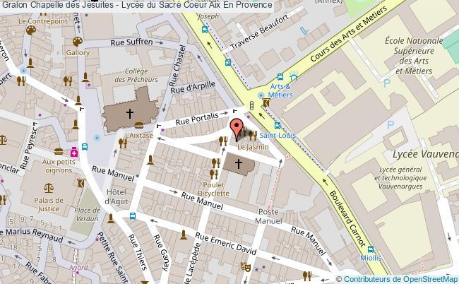 plan Chapelle Des Jésuites - Lycée Du Sacré Coeur Aix En Provence