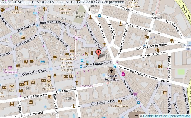 plan Chapelle Des Oblats - Eglise De La Mission Aix En Provence