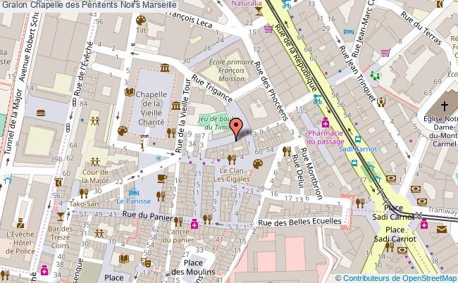 plan Chapelle Des Pénitents Noirs Marseille