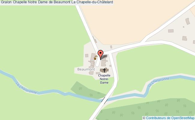 plan Chapelle Notre Dame De Beaumont La Chapelle-du-châtelard