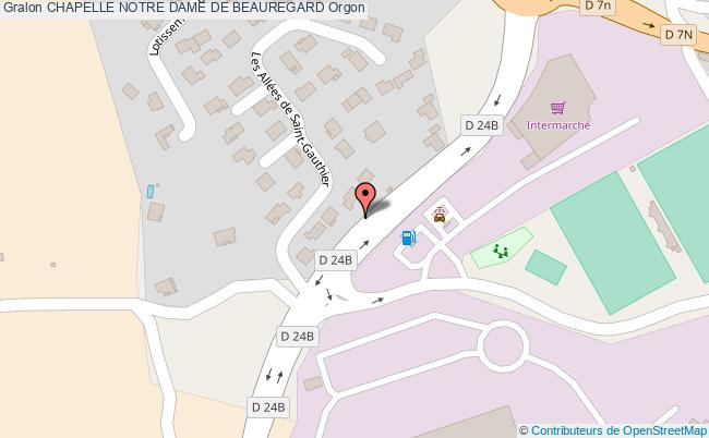 plan Chapelle Notre Dame De Beauregard Orgon