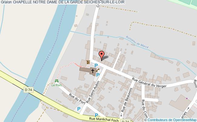 plan Chapelle Notre Dame De La Garde Seiches-sur-le-loir