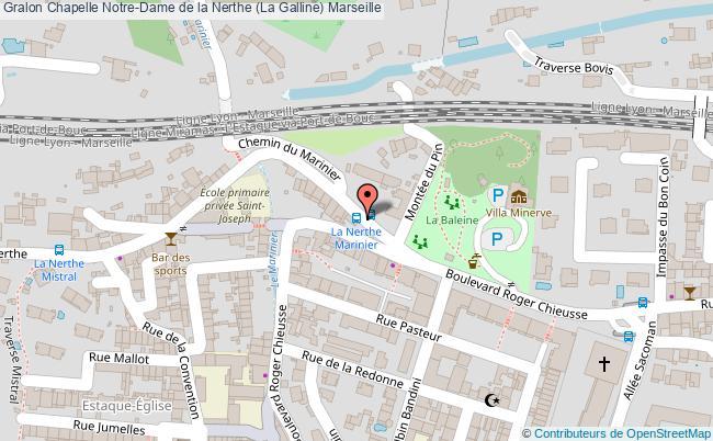 plan Chapelle Notre-dame De La Nerthe (la Galline) Marseille