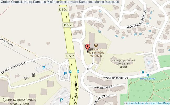 plan Chapelle Notre Dame De Miséricorde Dite Notre Dame Des Marins Martigues
