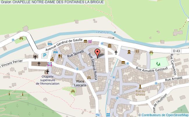 plan Chapelle Notre-dame Des Fontaines La Brigue