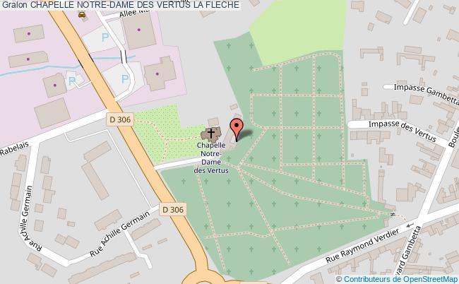 plan association Chapelle Notre-dame Des Vertus La Fleche LA FLECHE