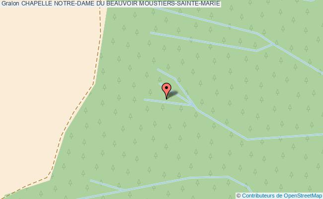 plan Chapelle Notre-dame Du Beauvoir Moustiers-sainte-marie