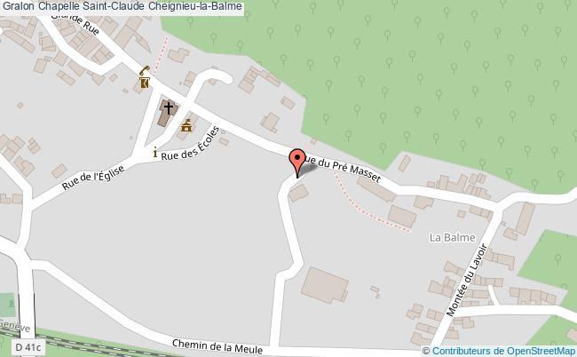 plan Chapelle Saint-claude Cheignieu-la-balme