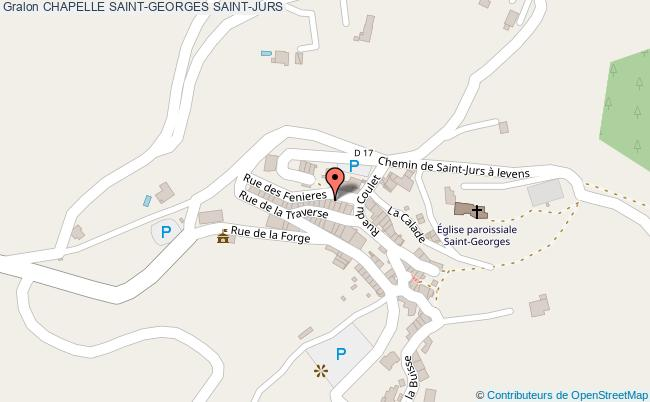 plan Chapelle Saint-georges Saint-jurs