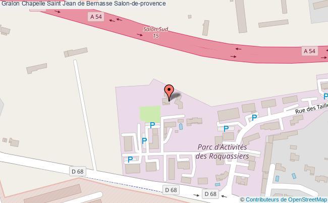 plan Chapelle Saint Jean De Bernasse Salon-de-provence