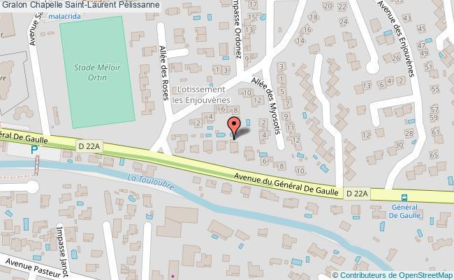 plan Chapelle Saint-laurent Pélissanne