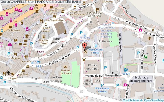plan association Chapelle Saint Pancrace Digne-les-bains DIGNE-LES-BAINS