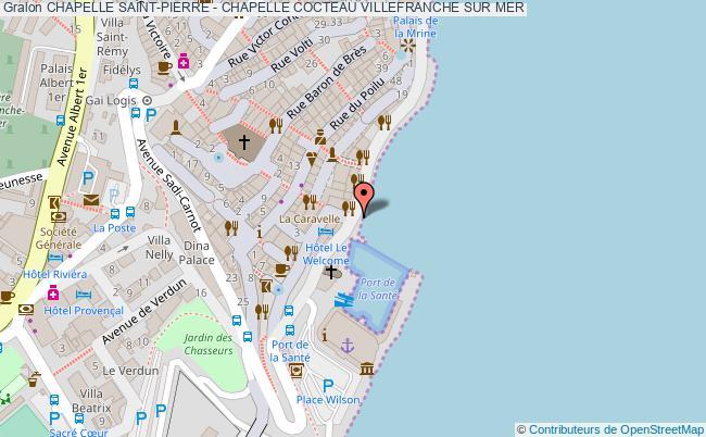 plan Chapelle Saint-pierre - Chapelle Cocteau Villefranche Sur Mer