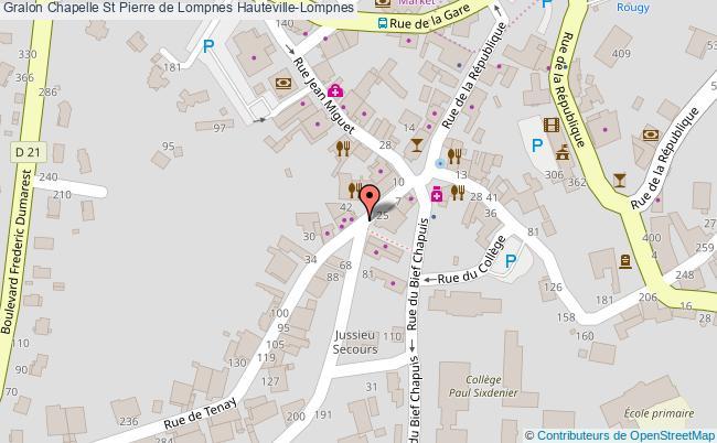 plan Chapelle St Pierre De Lompnes Hauteville-lompnes