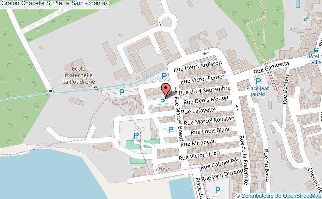 plan Chapelle St Pierre Saint-chamas