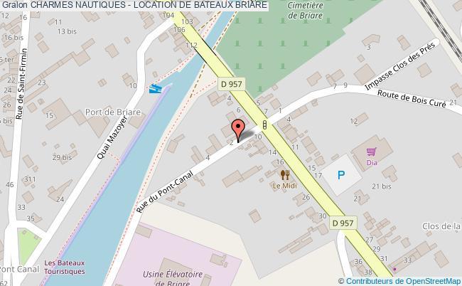 plan association Charmes Nautiques - Location De Bateaux Briare BRIARE