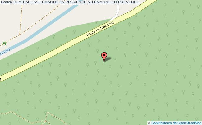 plan Chateau D'allemagne En Provence Allemagne-en-provence