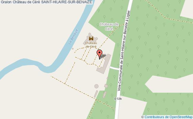 plan Château De Céré Saint-hilaire-sur-benaize