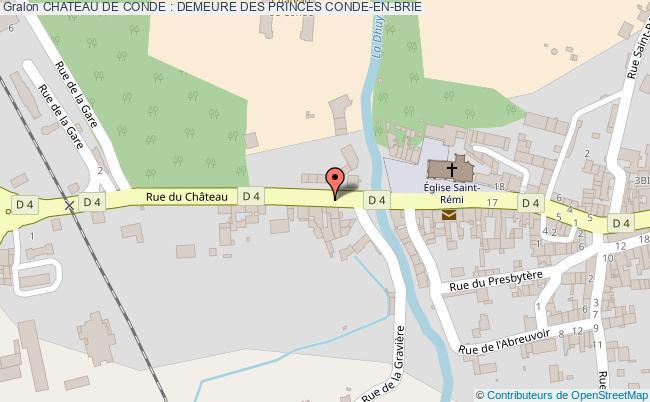 plan Chateau De Conde : Demeure Des Princes Conde-en-brie