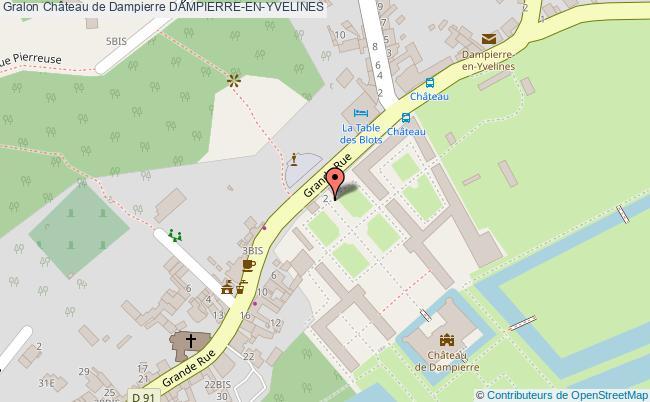 Ch teau de dampierre dampierre en yvelines tourisme site for Carte touristique yvelines