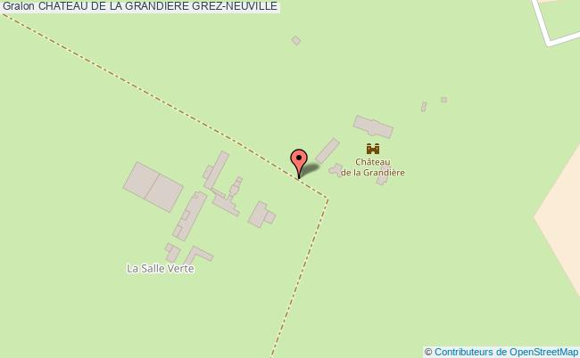plan Chateau De La Grandiere Grez-neuville
