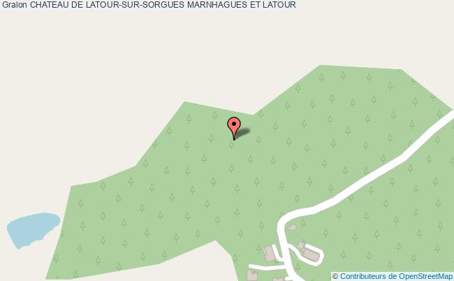 plan Chateau De Latour-sur-sorgues Marnhagues Et Latour